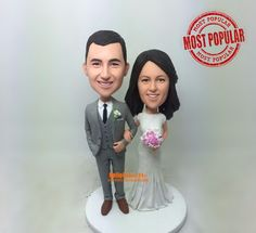 wedding topper Cake Toppers custom cake topper wedding cake topper custom bobblehead cake topper wedding bobblehead cake toppers - CT G0101