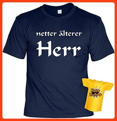 cooles Geburtstags Tshirt für Herren in der Farbe navy blau mit Mini Shirt - netter älterer Herr - ideales Geschenk (L) (*Partner Link)