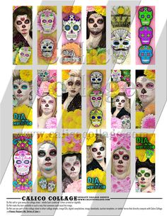 """New """"Day of the Dead"""" collage sheets"""
