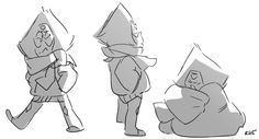Peridot in winter clothes/wrapped in a blanket by Rebecca S