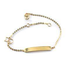 Βραχιόλι ταυτότητα , χρυσό Κ14 0128 Jewels, Bracelets, Gold, Fashion, Moda, Jewerly, Fashion Styles, Bracelet, Gemstones