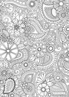 * Paisley Blooms * An intricate and super duper detailed illustration. Hand drawn by myself, coloured by YOU! Buy it Coloring Book Pages, Coloring Sheets, Coloring Pages For Grown Ups, Paisley Doodle, Silkscreen, Zentangle Patterns, Zentangles, Mandala Coloring, Printable Coloring