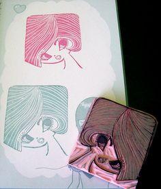 Glam Girl Hand Carved Stamp