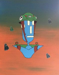 2000ADs rogue trooper one of my droid nuts doing this future solider 16x20 inches acrylic on canvas board available at www.pbrobots.com Canvas Board, Steampunk Fashion, Rogues, Future, Fictional Characters, Art, Art Background, Future Tense, Kunst