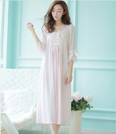 eb5b72c3eb women high quality long section nightgown pyjamas prince palace nightwear  pijamas royal vintage sleepwear pyjama camisola