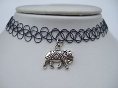 Handmade Hot Selling Vintage Stretch Tattoo Choker Necklace Gothic Punk Grunge Henna Elastic with 3D Elephant Pendant Necklaces-in Choker Necklaces from Jewelry on Aliexpress.com   Alibaba Group