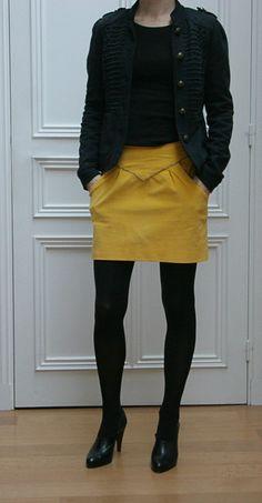 jupe châtaigne jaune1-1