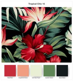 Hi and welcome to addINKtive designs. I'm back with some more colour inspiration. This time it's for the new Tropical Chic Bundle – I love the colour palette in the coordinating T… Interior Tropical, Tropical House Design, Tropical Home Decor, Tropical Colors, Tropical Houses, Tropical Furniture, Color Palette For Home, Color Schemes Colour Palettes, Colour Pallette