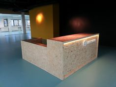 Reception Area: Chipwood all the way...