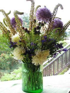 50 miles bouquet - allium and drumstick allium