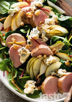 Warm pork and pear salad (click on the photo to get the recipe)