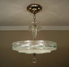 "Antique 1930's Chandelier LG 16.5"" Vintage Pressed Glass Ceiling 4 Light Fixture Chandelier Shades, Vintage Chandelier, Vintage Lamps, Chandelier Lighting, Ceiling Lighting, Glass Ceiling, Chandeliers, Antique Light Fixtures, Antique Lighting"