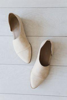 Freya Beige Pointed Toe Flats