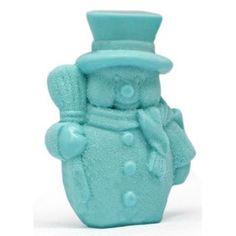 """Molde hacer velas navideñas """"Muñeco de nieve con escoba"""""""
