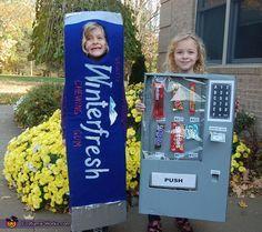Vending Machine and Gum Kids Halloween Costume Idea