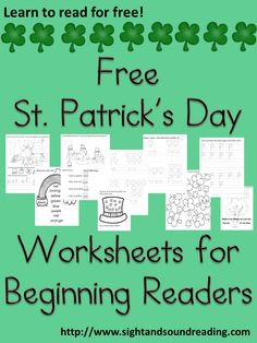 Classroom Freebies Too: St. Patrick's Day fun for Kindergarten