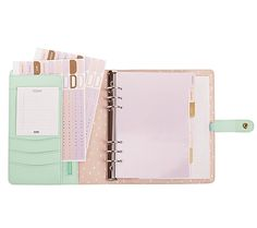 LEATHER PERSONAL PLANNER: MINT