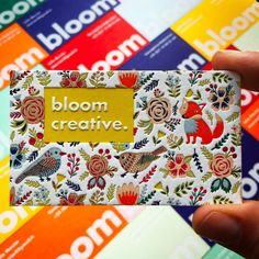 Letterpress business cards for Bloom Creative. What fun!