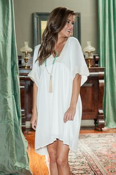 The Light Of Day Dress, White