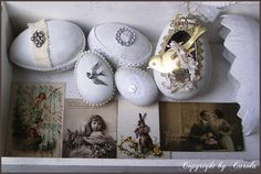Beautiful vintage easter egg