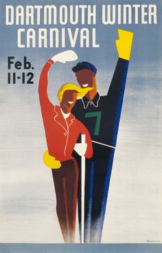 Dartmouth Winter Carnival by Armsheimer | Shop original vintage posters online: www.internationalposter.com