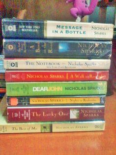 Nicholas Sparks.   Great books. Turned into good movies