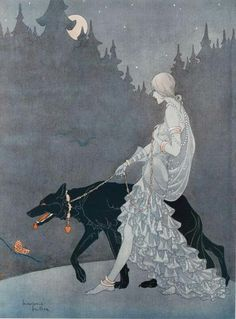 Queen of the Night - Illustration by Marjorie Miller, 1931