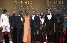 """ The cast of BlacKkKlansman at the Cannes Film Festival. """