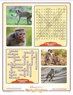 Monkey Kingdom Word Search
