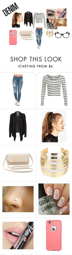 """""""Denim Contest"""" by victaletdjamba ❤ liked on Polyvore featuring Miss Selfridge, Rosemunde, ASOS, Charlotte Russe, WithChic, Fiebiger and LifeProof"""