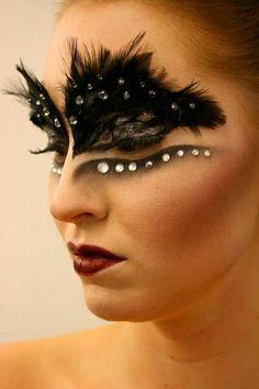 Black swan makeup!