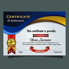 Certificate Of Recognition Template, Certificate Of Achievement Template, Certificate Design Template, Award Certificates, Perfect Attendance Certificate, Certificate Layout, Certificate Border, Graduation Templates, Award Template