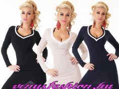 Divatos testhezálló kötött női ruha pulóver