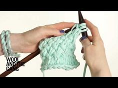 HOW TO KNIT: Knitting a Woven Stitch - YouTube