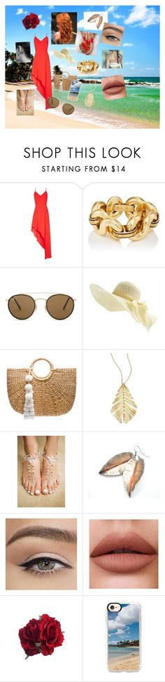 """beach please"" by almamedjedovic ❤ liked on Polyvore featuring Alice + Olivia, Ray-Ban, JADEtribe, Hueb and Casetify"