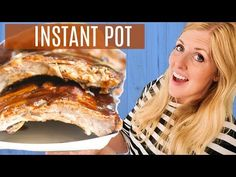 Instant Pot Ribs Recipe Easy : Instant Pot Fall Off the Bone BBQ Ribs – Easy Instant Pot Recipe for beginners Rib Recipes, Recipes For Beginners, Crockpot Recipes, Instant Pot Pressure Cooker, Pressure Cooker Recipes, Pressure Cooking, Instant Pot Ribs Recipe, Baked Ribs, Slow Cooker Bbq