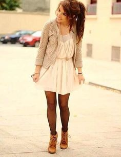 Fall - I have to remember this outfit! And by little oxford booties or something