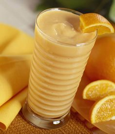 Orange Cream Smoothie   DirectionsProcess all ingredients in blender until smooth. Ingredients1 scoop. Slimfast® Advanced Nutrition Vanilla Creme Smoothie Mix 1/2 cup. Orange juice 1/3 cup. Fat free milk 3/8 cup. Plain, fat free Greek yogurt 1/2 cup. Water