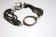 #handmade #jewelry #bracelet #wire_wrapped