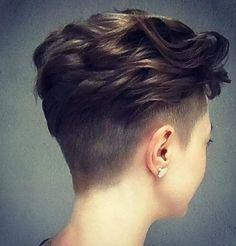 Layered Wavy Haircut - Short Pixie Hairstyles