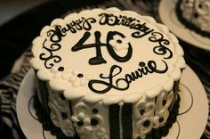 40th surprise party... love the cake!  via Kelly's Korner