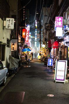 Back alley in Shinbashi, Tokyo, Japan