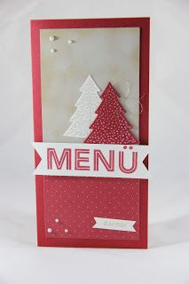 StampinFantasy: Festtagsmenü Advent Calendar, Stampin Up, Menu, Holiday Decor, Winter, Home Decor, Cards, Menu Board Design, Winter Time