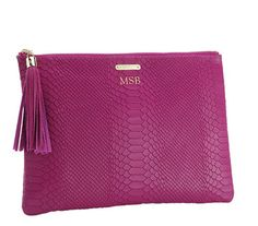 Magenta All In One Bag with Personalization, $120 | GiGi New York