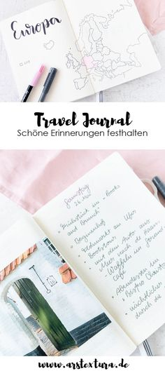 Travel Journal - The perfect travel companion ars tex Travel Journal – Der perfekte Begleiter für Reisen Bullet Journal Travel, Bullet Journals, Diy Tumblr, Travel Drawing, Diy Blog, Book Journal, Travelers Notebook, Smash Book, Hand Lettering