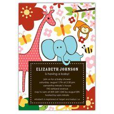 Safari Jungle Baby Shower Invitation