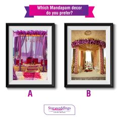 Whether you want an indoor wedding or an outdoor wedding, Mandapams are the focal point of any Indian wedding. Which Mandapam decor do you prefer and would like to have at your wedding? Do let us know in the comments below :) #WeddingDecor #WeddingIdeas #Mandap #Chennai #WeddingPlanners