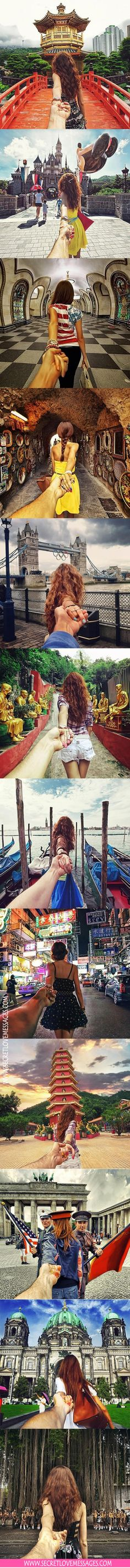 #love traveller, I will follow wherever you lead me, I will start to take this type of photos for make a collage :)