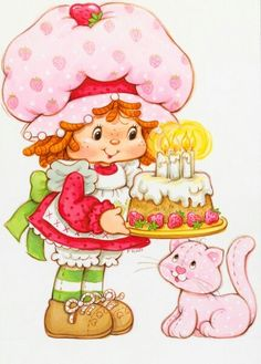 Strawberry Shortcake wishes your little one a berry happy birthday! Strawberry Shortcake wishes your little one a berry happy birthday! Strawberry Shortcake Cartoon, Strawberry Shortcake Birthday, Birthday Cake Illustration, Birthday Wishes, Happy Birthday, Dibujos Cute, Rainbow Brite, Holly Hobbie, 80s Kids