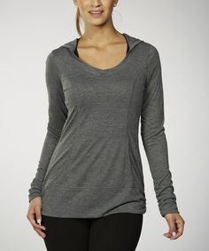 Look what I found on #zulily! Heather Charcoal Brooke Hoodie #zulilyfinds